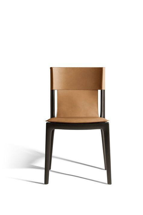 Tanned leather chair ISADORA By Poltrona Frau design Roberto ...