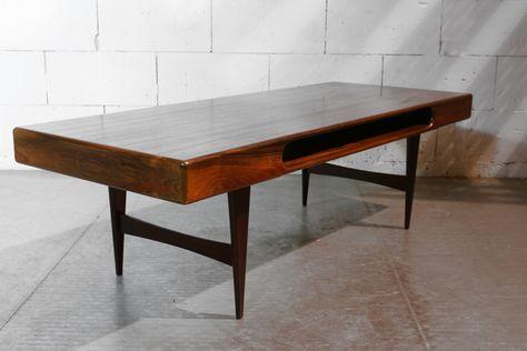 Deense Vintage Salontafel.Vintage Design Palissander Deens Salontafel Uit De Jaren 60