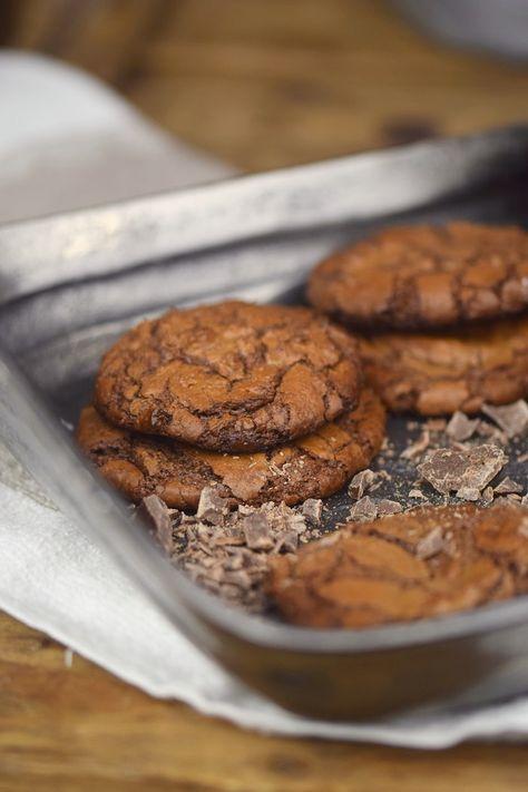 Im Schokohimmel: Saftige Schoko Brownie Cookies   Das Knusperstübchen