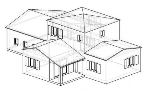 Dessiner maison 3d kl,ùl Pinterest - Dessiner Maison En 3d