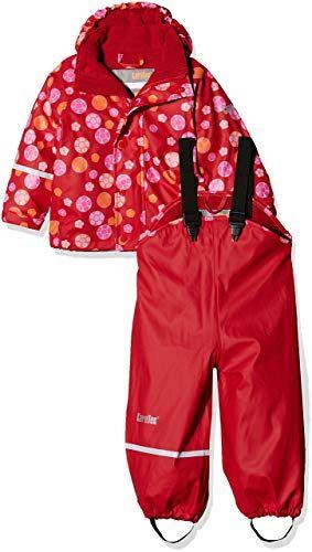 5608a1dbf3 CareTec Kinder Wasserdichte Regenlatzhose und -Jacke im Set (Verschiedene  Farben): Amazon.