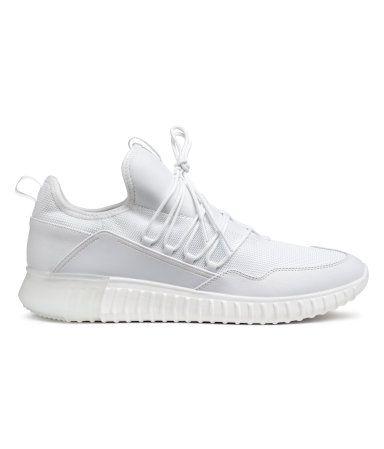 Mesh Sneakers   White   MEN   H\u0026M US