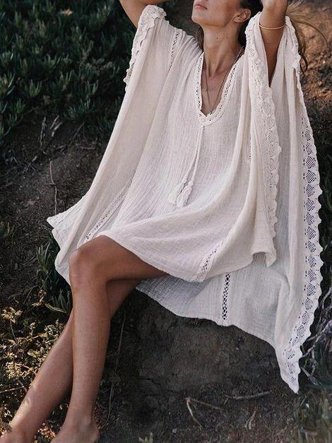 JARTINI Bohemia V-neck Kaftan Mini Dress – Jartini mini dresses formal mini dresses summer short dresses dream fashion dress simplewedding dresses linen dresses elegent#amazingdresses #dressgowns #cutesimpledresses  #designerdresses