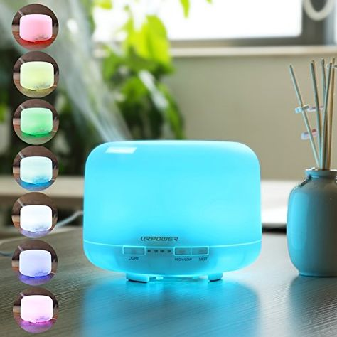 500ml Aroma Essential Oil Diffuser,URPOWER® Ultrasonic Air Humidifier with 4 Timer Settings 7 LED Color Changing Lamps, 10 Hours Continous Mist Mode Running - AUTO shut off for Yoga Bedroom Baby Room URPOWER http://www.amazon.com/dp/B0118QC1BA/ref=cm_sw_r_pi_dp_-F-fwb04VKX9J