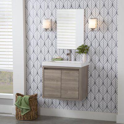 Union Rustic Rachal 24 5 Wall Mounted Single Bathroom Vanity Base Finish Forest Elm Single Bathroom Vanity Bathroom Vanities For Sale Bathroom Vanity