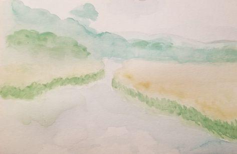 The Duck Pond Knowlton Quebec Aquarelle 2019 Watercolor