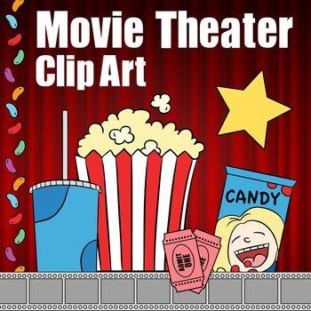 Movie Theater Clip Art Theatre Clipart Popcorn Soda Candy Border Tickets Movie Theater Clip Art Drama Ideas