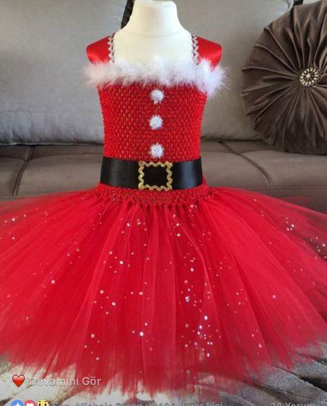 2 Navidad Vestido De Tutu 3 Años Santa Claus Por