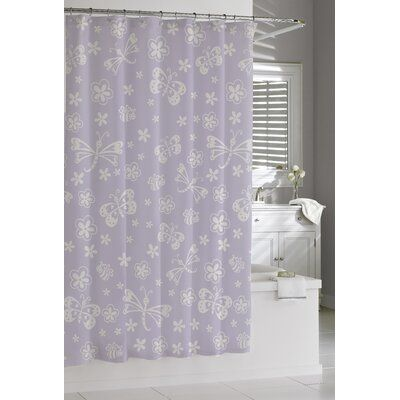 Kassatex Fine Linens 100 Cotton Single Shower Curtain Black
