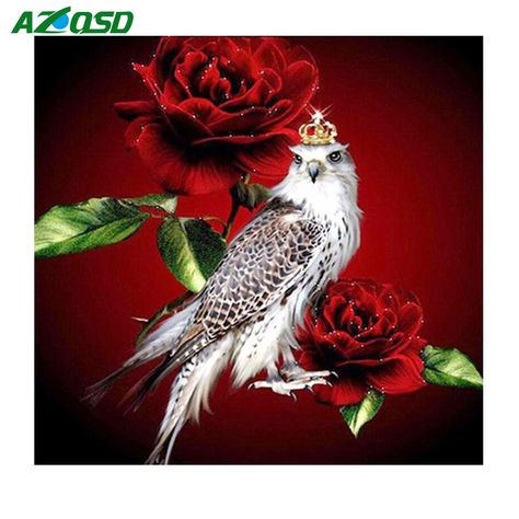 AZQSD Diamond Embroidery Bird and Flower Painting Full Square Diamond Painting Cross Stitch Eagle in Rose Bead Work DIY Hobby. Yesterday's price: US $9.00 (7.66 EUR). Today's price: US $4.50 (3.96 EUR). Discount: 50%.