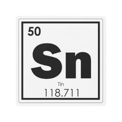 Best 25 tin chemical symbol ideas on pinterest physical tin chemical element symbol chemistry formula geek metal print urtaz Images