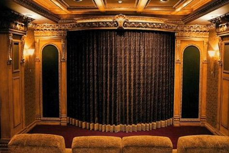 Theater Room With Stage Drapes | Velvet Curtain Ideas | Pinterest | Room,  Velvet Curtains And Curtain Ideas