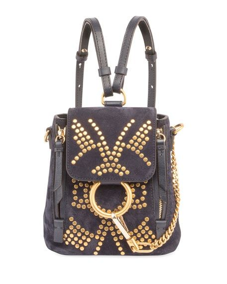 4371fd39 Check out the Chloe Backpack Studded Mini Black available on StockX ...