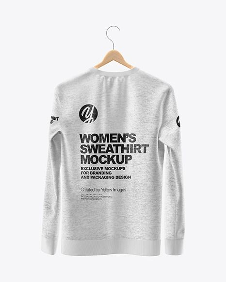 Download Heather Sweatshirt On Hanger Mockup Back View In Apparel Mockups On Yellow Images Object Mockups Clothing Mockup Sweatshirts Design Mockup Free