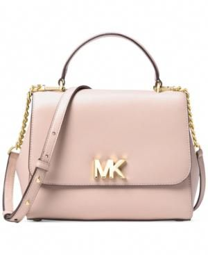 Michael Michael Kors Mott Medium Top Handle Satchel Pink Leather Satchel Handbags Women Leather Backpack Handbags Michael Kors
