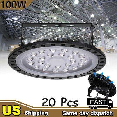 100W UFO LED High Bay Light Warehouse Led Shop Light Fixture 8000LM Lamp