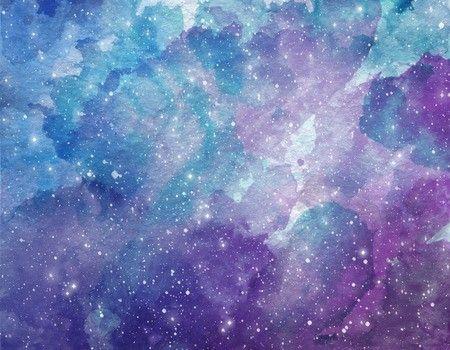 Purple Galaxy Watercolor Space Watercolor Galaxy Painting Watercolor Galaxy