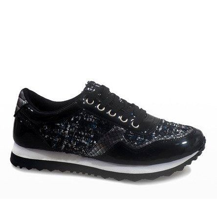 Czarne Sportowe Trampki Na Koturnie R 41 Sport Sneakers Women Shoes Heels