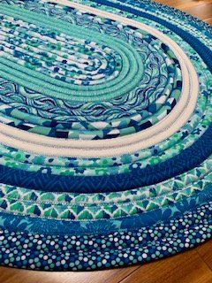 Jelly Roll Rug Aqua Blue Jelly Roll Quilt Patterns Jelly Roll Sewing Rag Rug