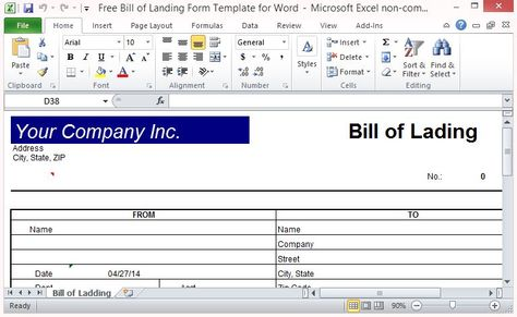 Free Word Template for Making Printable Gift Certificates Word - bill of lading template word