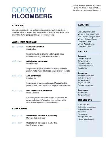 Resume Header? Books Pinterest Resume ideas and Business cards - resume header