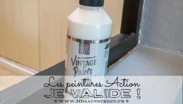 Les Peintures Action Je Valide 10 Main Street Deco Action Peinture A La Craie Peintures Vintage