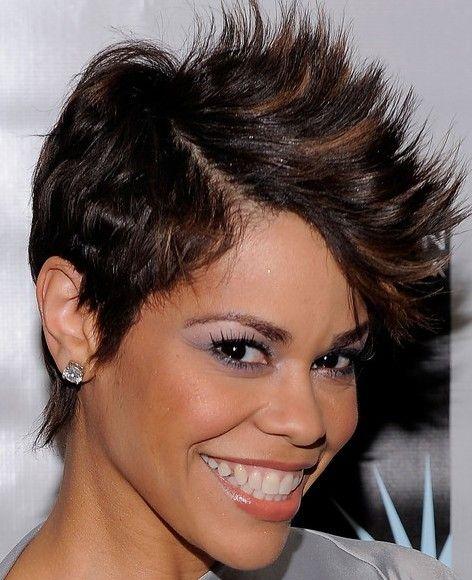 celebrity Faux Hawk haircut