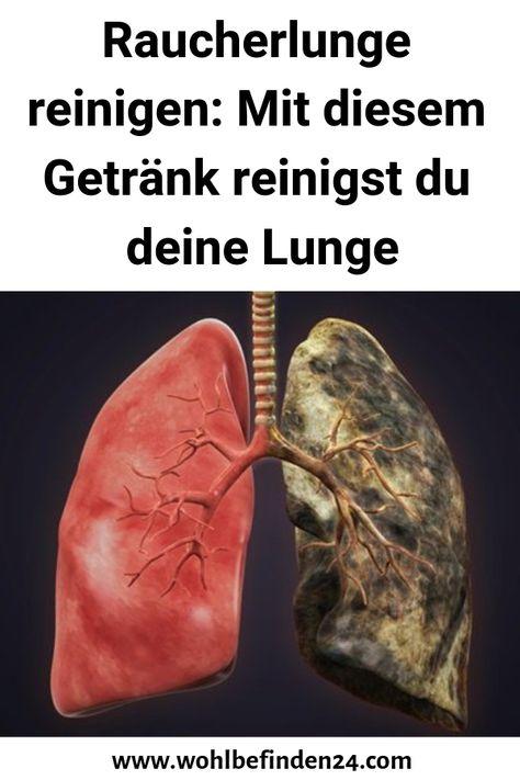 Sauber nach rauchen lunge wieder Der Drink