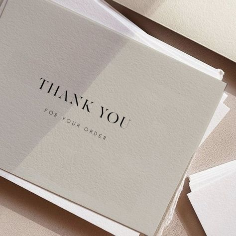 Printable Luxury Thank You For Your Order Cards, Template Card, Thank You Card Printable, Note Card