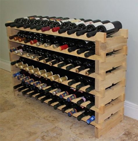 Stackable Wine Rack 72 Bottles Modular Wooden Wine Racks Very Easy To Put Together Wn72 Displaygifts Homemade Wine Rack Wine Rack Plans Wooden Wine Rack
