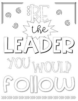 Leadership And Inspirational Coloring Sheets Quote Coloring Pages Leader In Me Christian Coloring