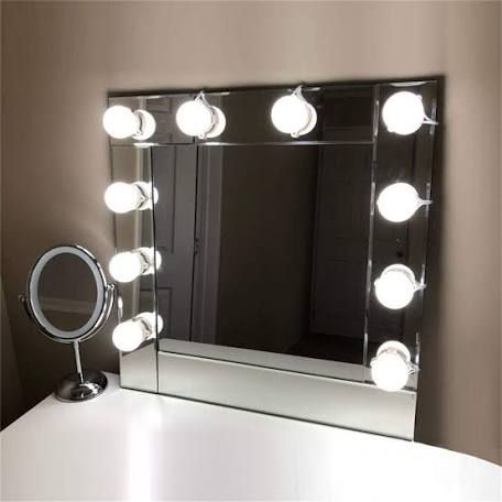 Bathroom Mirror Lights Vanity, What Bulbs For Makeup Mirror