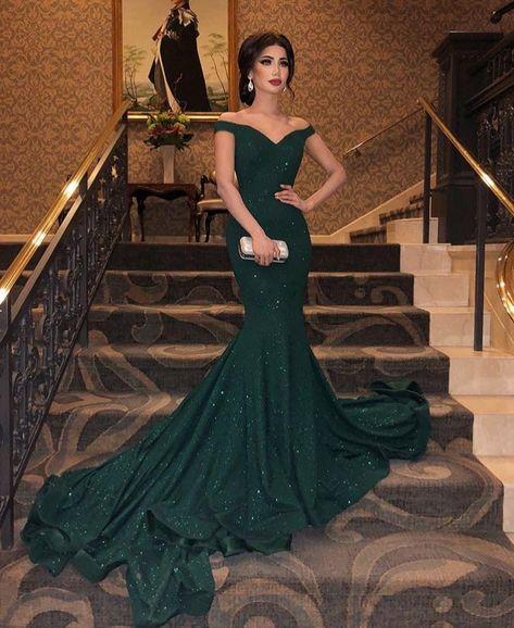 Hermoso Vestido De Gala Vestidos De Noche Verdes Vestidos