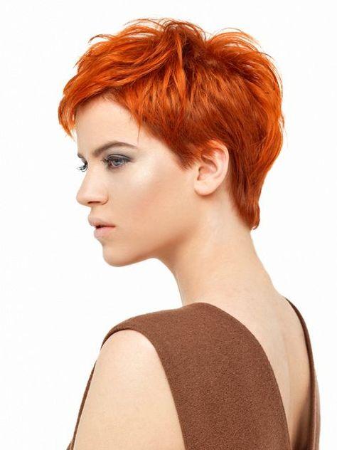 Kupfer Haarfarbe Kurze Haare Haare Frisuren Kurze Haare