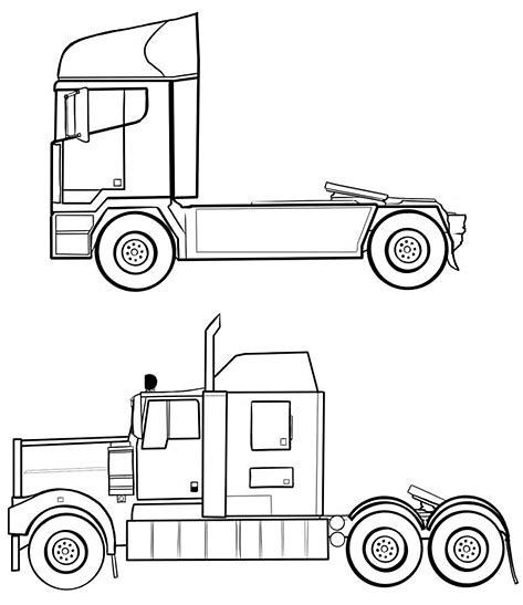 Image Result For Semi Truck Outline Drawing Side Profile With