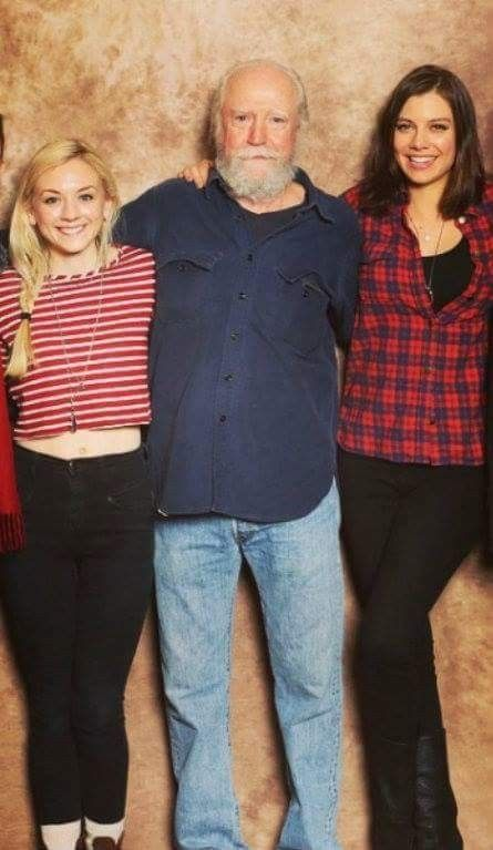 Lauren Cohan Emily Kinney Scott Wilson Walking Dead Cast Walking Dead Series The Walking Dead Tv