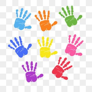 Set Of Colorful Hand Prints Isolated Handprint Clipart Hand Print Png And Vector With Transparent Background For Free Download Blue Abstract Art Paint Vector Holiday Wall Art