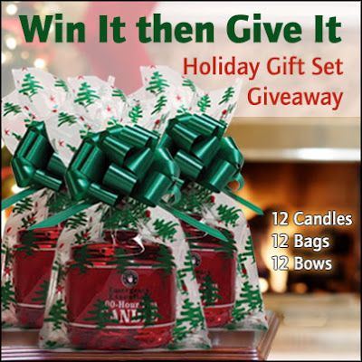 Enter to win a 12-pack of Emergency Candles with gift bags and bows from Emergency Essentials! Go to our blog to enter before 11: 59 p.m. Sunday November 18th, 2012! (preparednesspantry.blogspot.com)