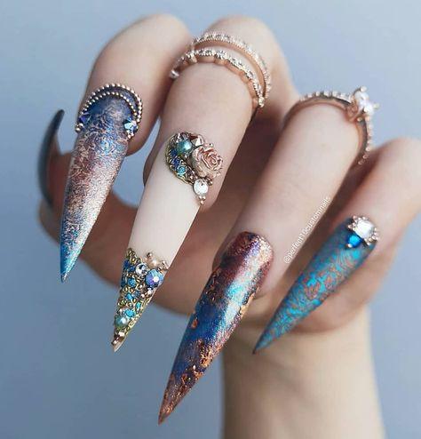 Favored stiletto nails art design in 2019