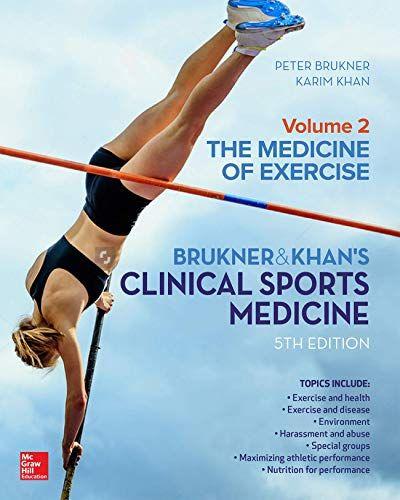Clinical Sports Medicine The Medicine Of Exercise Volum Https Www Amazon Com Dp 1760420514 Ref Cm Sw R Pi Dp U X Sports Medicine Health Science Medicine