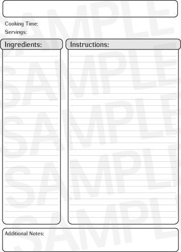 free full page recipe templates