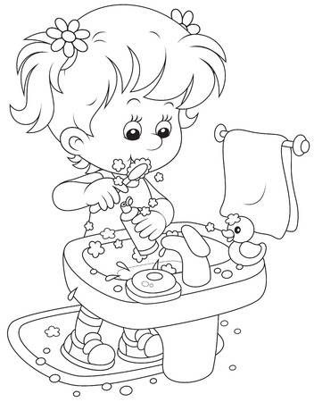 Child Brushing Teeth Coloring Pages Winter Cute Coloring Pages Tooth Cartoon