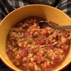 Stuffed Pepper Soup I Recipe Allrecipes Com Stuffed Peppers Stuffed Pepper Soup Soup
