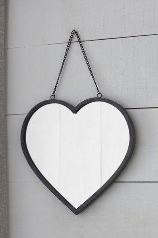 Vintage Effect Heart Mirror Heart Mirror Mirror Overmantle Mirror