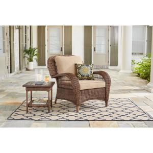 Pleasing Hampton Bay Beacon Park Brown Wicker Outdoor Patio Swivel Gmtry Best Dining Table And Chair Ideas Images Gmtryco