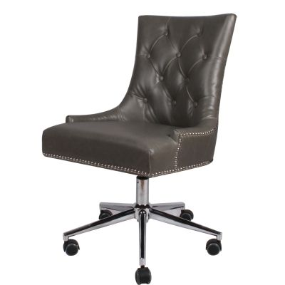 Cadence Bonded Leather Office Chair Vintage Gray 320 At Tampa