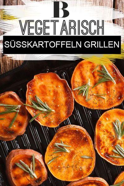 Sü�kartoffeln grillen - vegetarischer Genuss. Wir zeigen euch, wie ihr Sü�kartoffeln grillen könnt – in Scheiben, gefüllt oder am Spie�. Die Batate ist nämlich die perfekte Beilage für eure Grillparty. #grillen #vegetarisch #vegan #sü�kartoffel