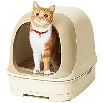 Amazon アイリスオーヤマ 猫用トイレ本体 散らかりにくいネコトイレ スコップ付き フルカバー ブラウン 大型 アイリスオーヤマ Iris Ohyama トイレ本体 通販 2021 ペット用品 猫 トイレ ペット