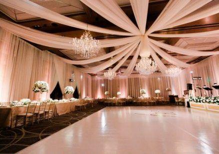 Wedding Reception Ballroom Draping 61 New Ideas Wedding Reception Dance Floor Wedding Ceiling Wedding Reception Decorations Elegant