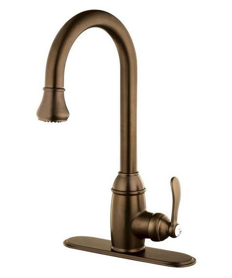 Belle Foret Kitchen Faucet | Belle Foret Bfn16001tb Tumbled Bronze Single Handle Kitchen Faucet